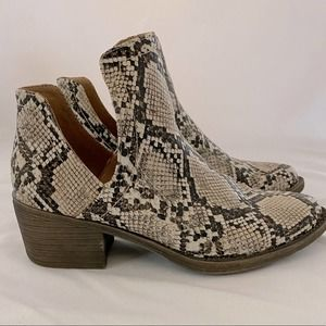 Volatile Snake Skin Booties - Great Condition